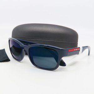 SPR 05V MAB-387 Prada Blue Mirrored Sunglasses